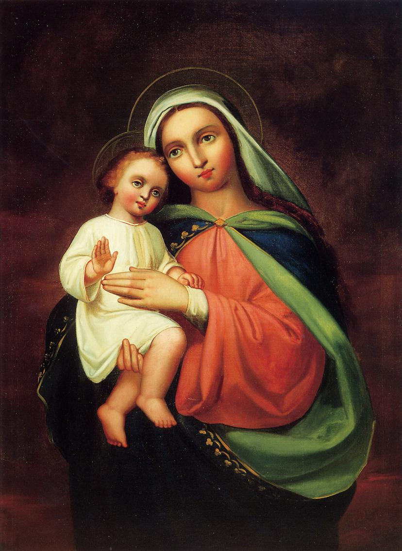 Madonna and Child 1867 | Frank Duveneck | Oil Painting