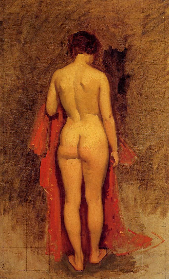 Nude Standing 1892 | Frank Duveneck | Oil Painting