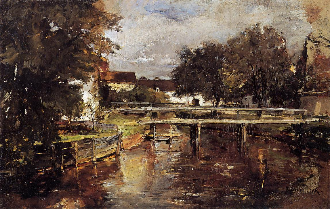 Old Towl Brook Polling Bavaria 1878 | Frank Duveneck | Oil Painting