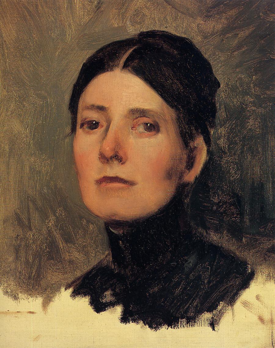 Portrait of Elizabeth Boott 1886 | Frank Duveneck | Oil Painting