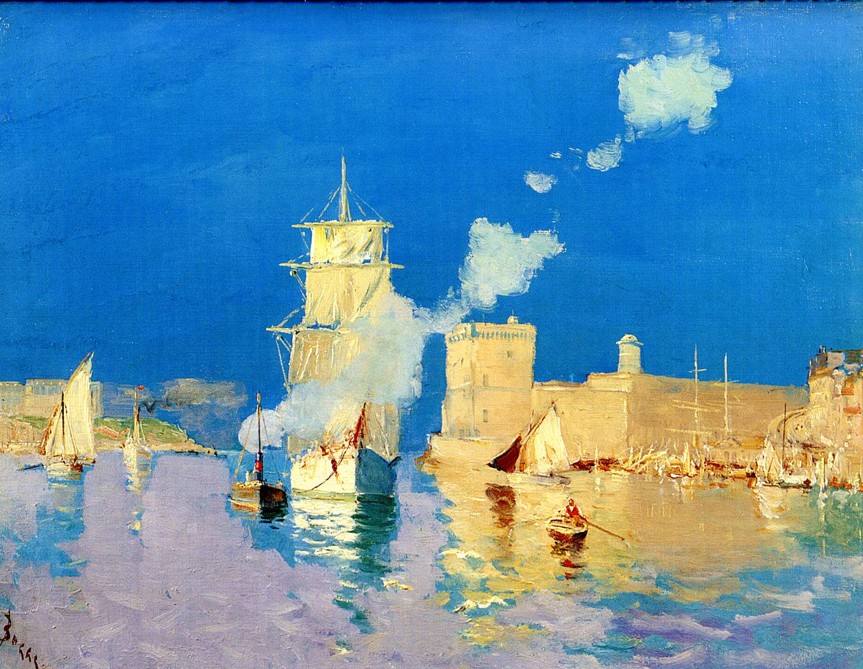 Entering the Port of Marseilles  1882 | Frank Myers Boggs | Oil Painting