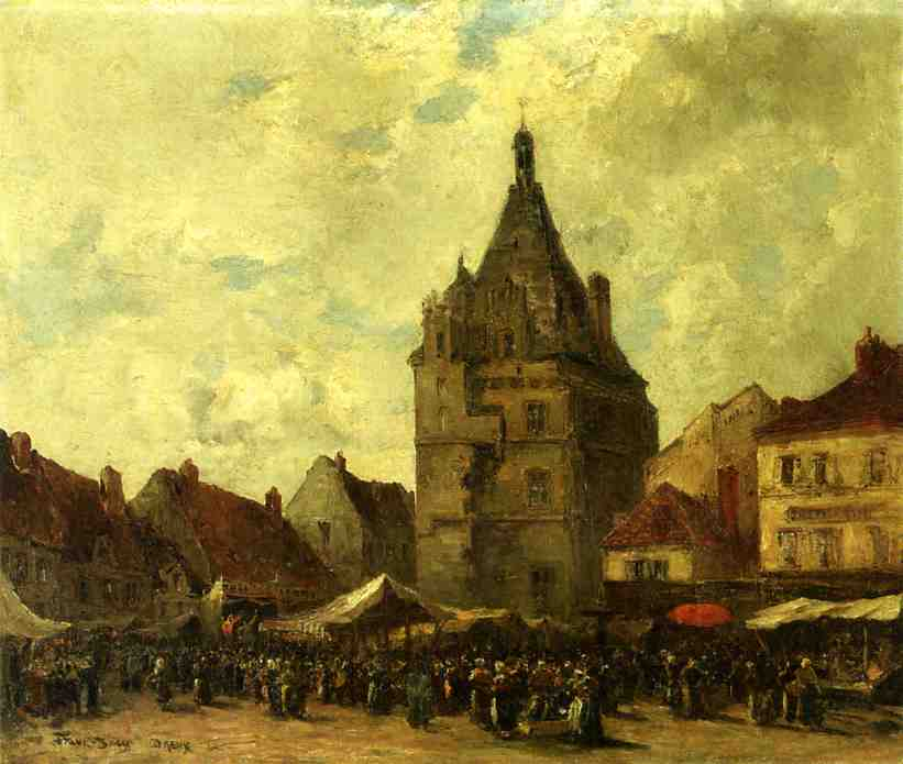 Market Day Dreux | Frank Myers Boggs | Oil Painting