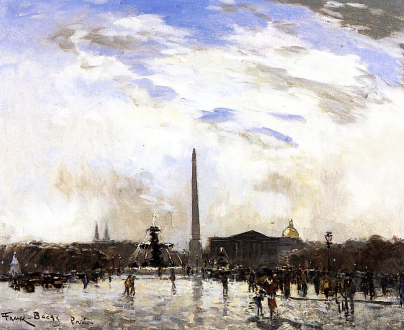 Place de la Concorde Paris  1896 | Frank Myers Boggs | Oil Painting
