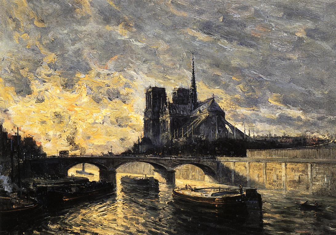 View of Notre Dame  1898 | Frank Myers Boggs | Oil Painting