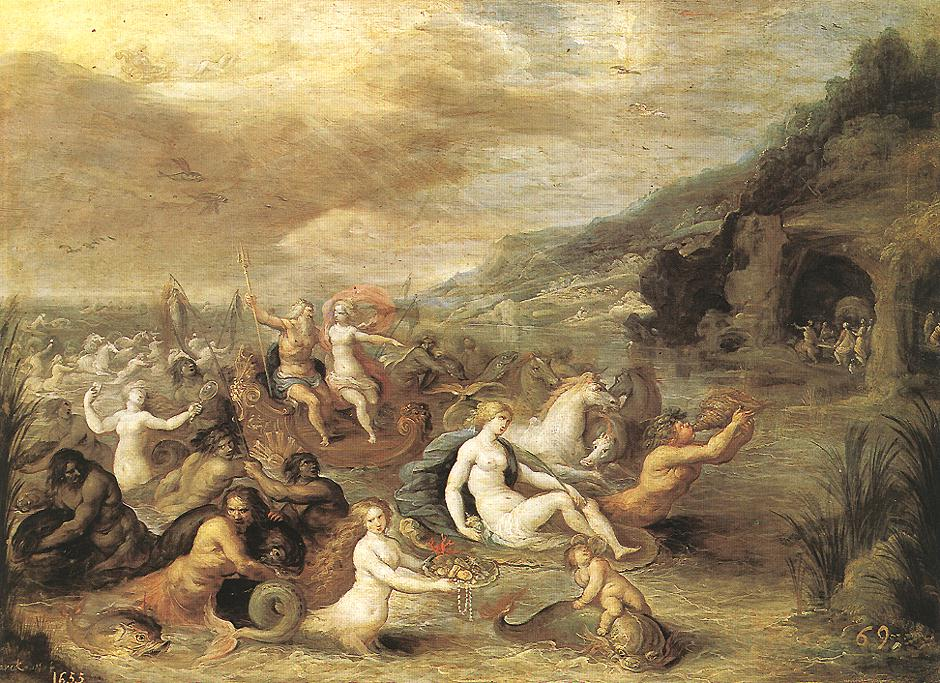 Triumph Of Amphitrite | Frans Francken | Oil Painting