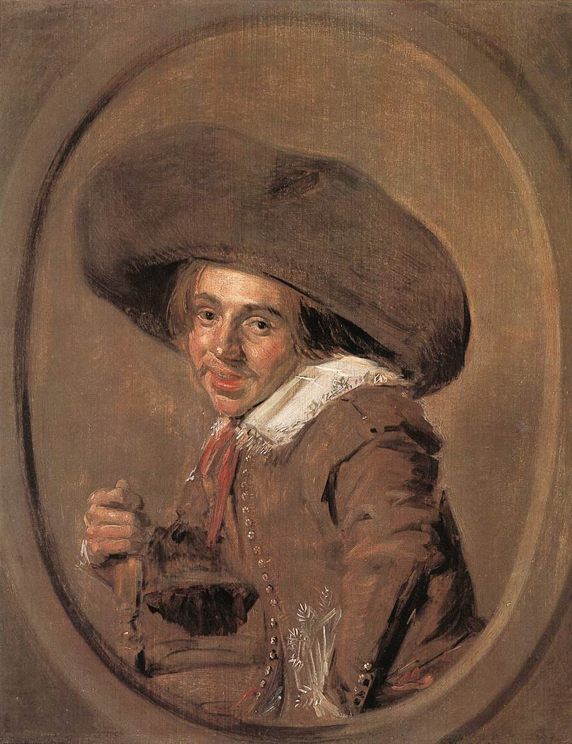 A Young Man In A Lare Hat 1628-30 | Frans Hals | Oil Painting