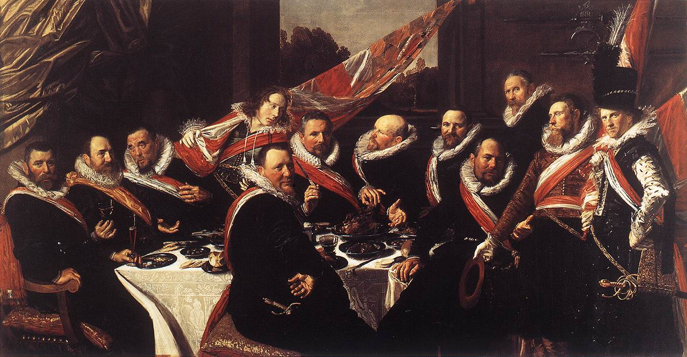 Banquet Of The Officers Of The St George Civic Guard | Frans Hals | Oil Painting