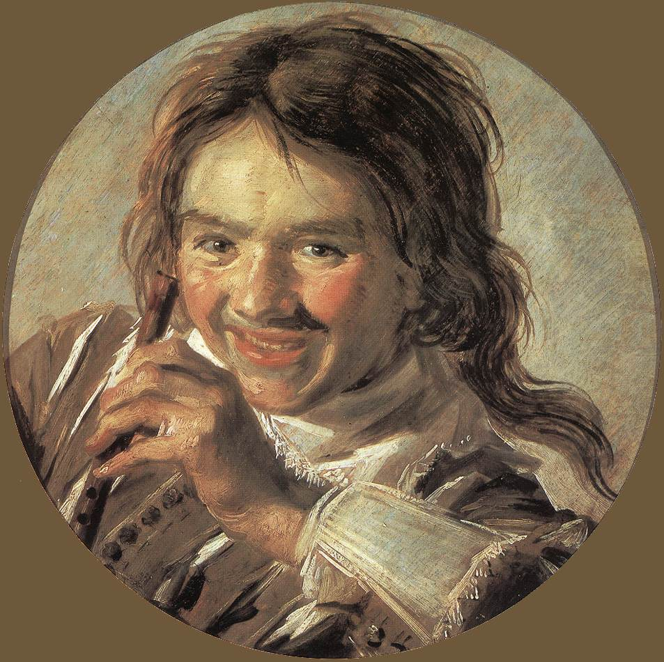 Boy Holding A Flute (Hearing) 1626-28 | Frans Hals | Oil Painting