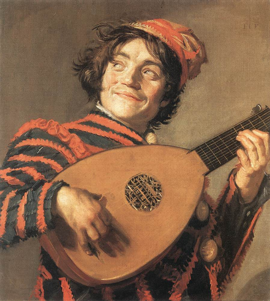 Buffoon Playing A Lute 1623 | Frans Hals | Oil Painting