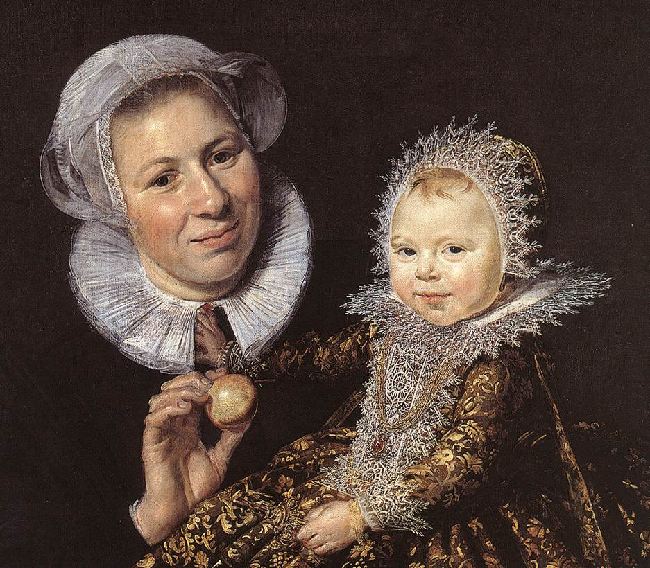 Catharina Hooft With Her Nurse (Detail-1) 1619-20 | Frans Hals | Oil Painting