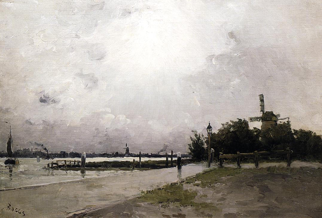 Windmill on the Coast Holland 1884