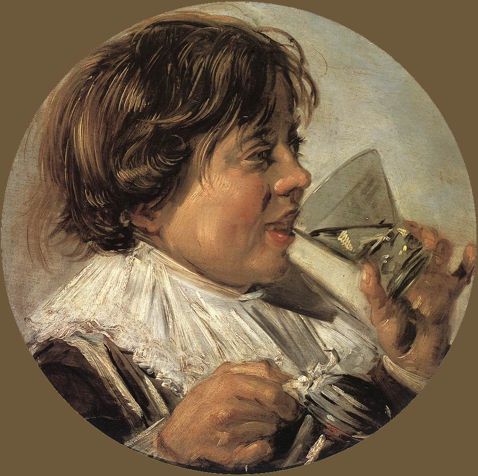 Drinking Boy (Taste) 1626-28 | Frans Hals | Oil Painting