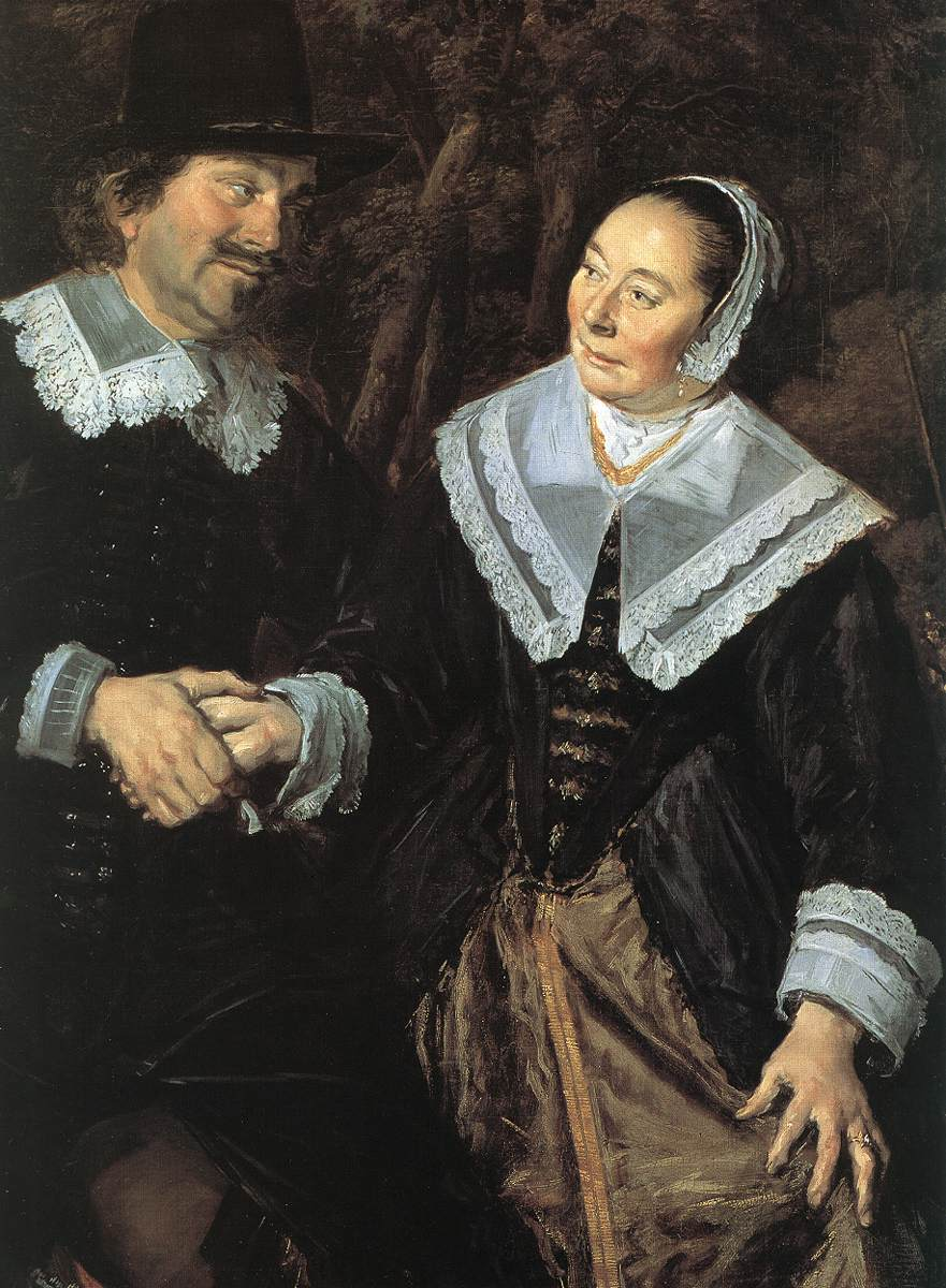 Family Group In A Landscape (Detail) 1648 | Frans Hals | Oil Painting