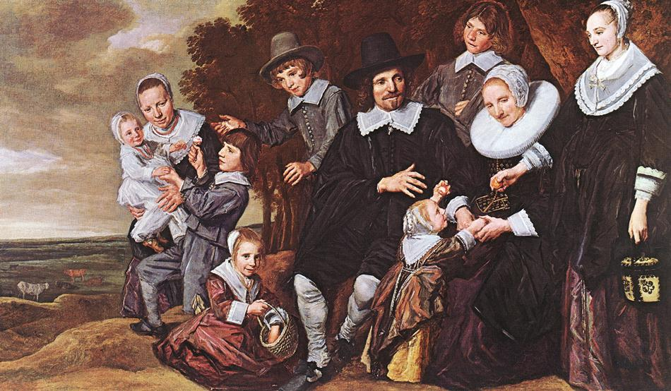 Family Group In A Landscape 1648 | Frans Hals | Oil Painting
