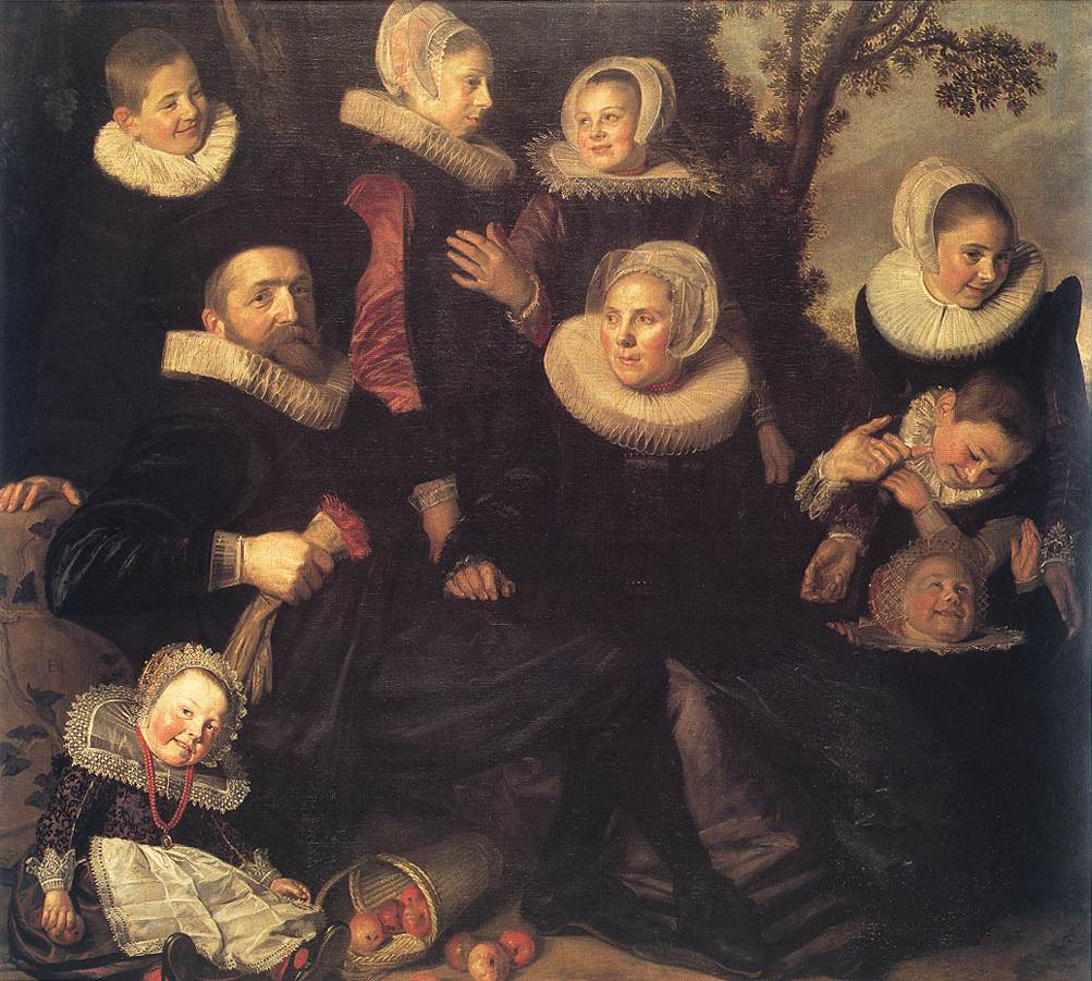 Family Portrait In A Landscape 1620 | Frans Hals | Oil Painting