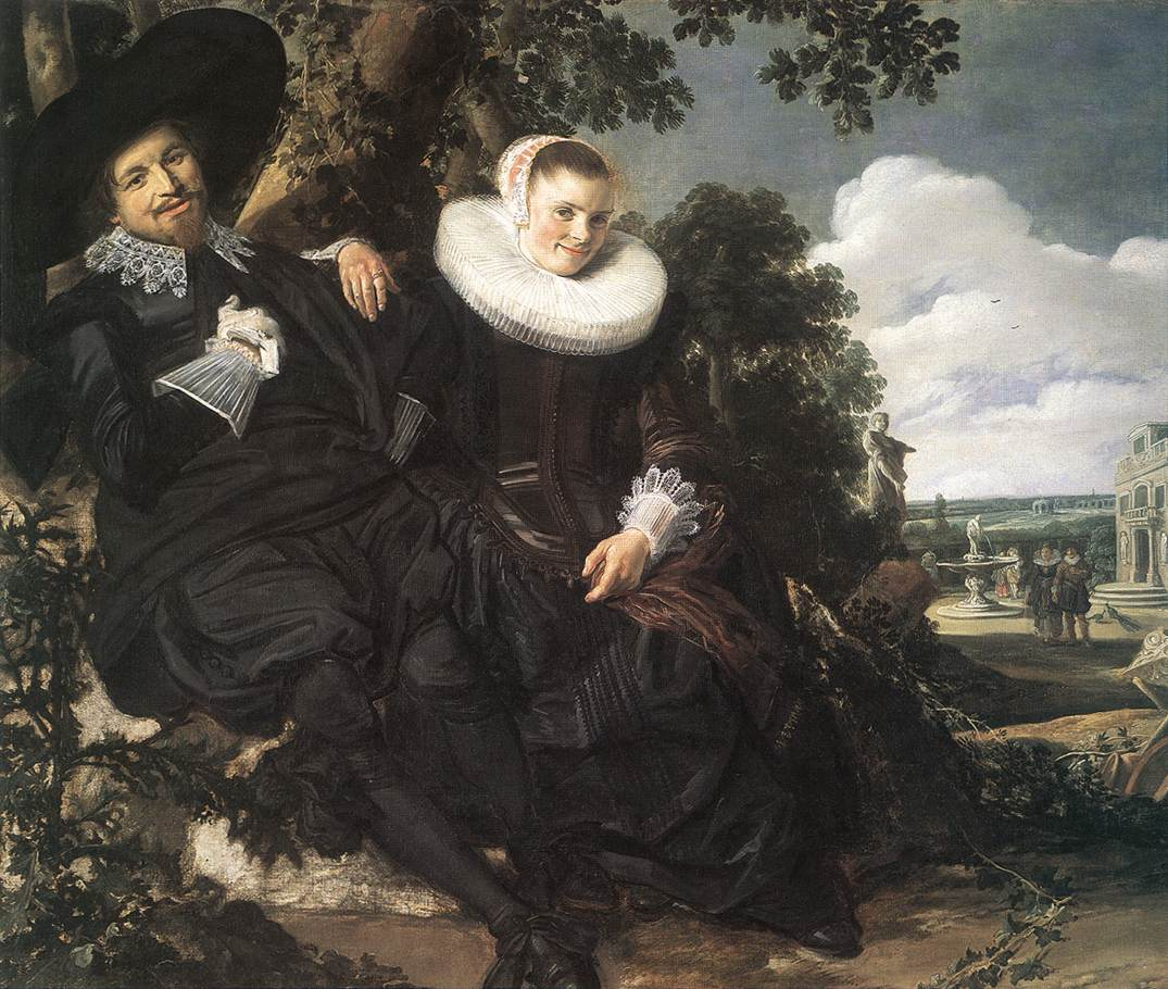 Married Couple In A Garden 1622 | Frans Hals | Oil Painting