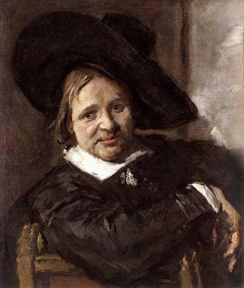 Portrait Of A Man In A Slouch Hat 1660-66   Frans Hals   Oil Painting
