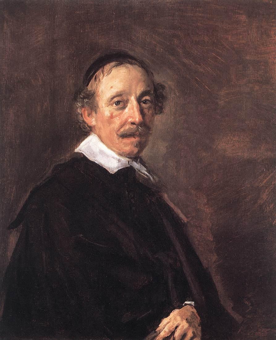 Portrait Of A Preacher 1658-60   Frans Hals   Oil Painting