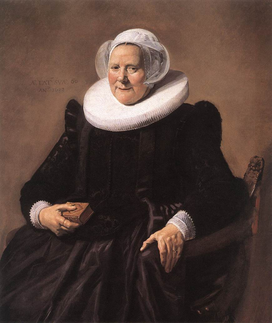 Portrait Of A Seated Woman 1633   Frans Hals   Oil Painting