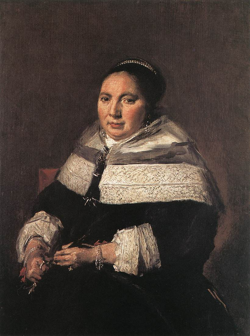 Portrait Of A Seated Woman 1660-66   Frans Hals   Oil Painting