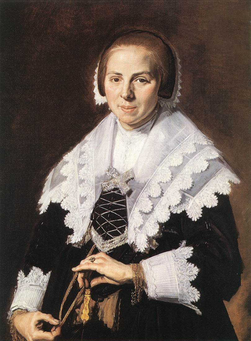 Portrait Of A Woman Holding A Fan 1640 | Frans Hals | Oil Painting