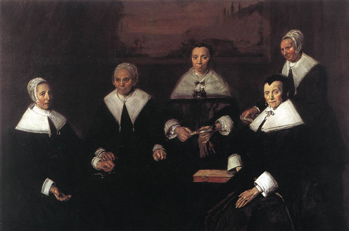 Regentesses Of The Old Mens Almshouse 1664 | Frans Hals | Oil Painting