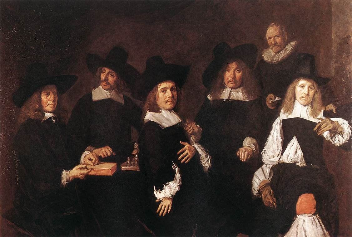 Regents Of The Old Mens Almshouse 1664 | Frans Hals | Oil Painting