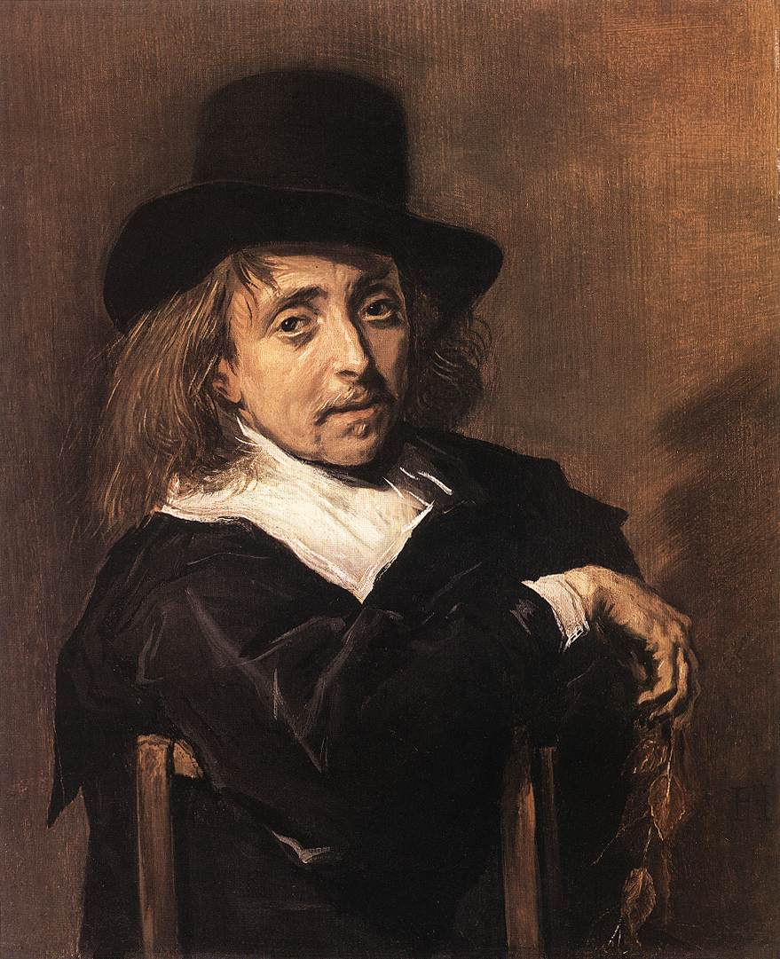 Seated Man Holding A Branch 1645 | Frans Hals | Oil Painting