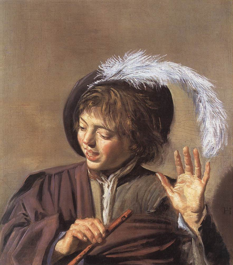 Singing Boy With A Flute 1623-25 | Frans Hals | Oil Painting
