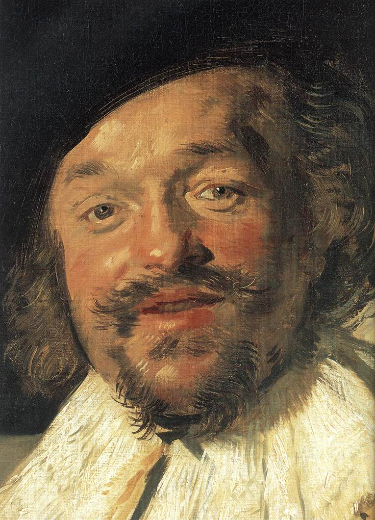 The Merry Drinker (Detail) 1628-30 | Frans Hals | Oil Painting