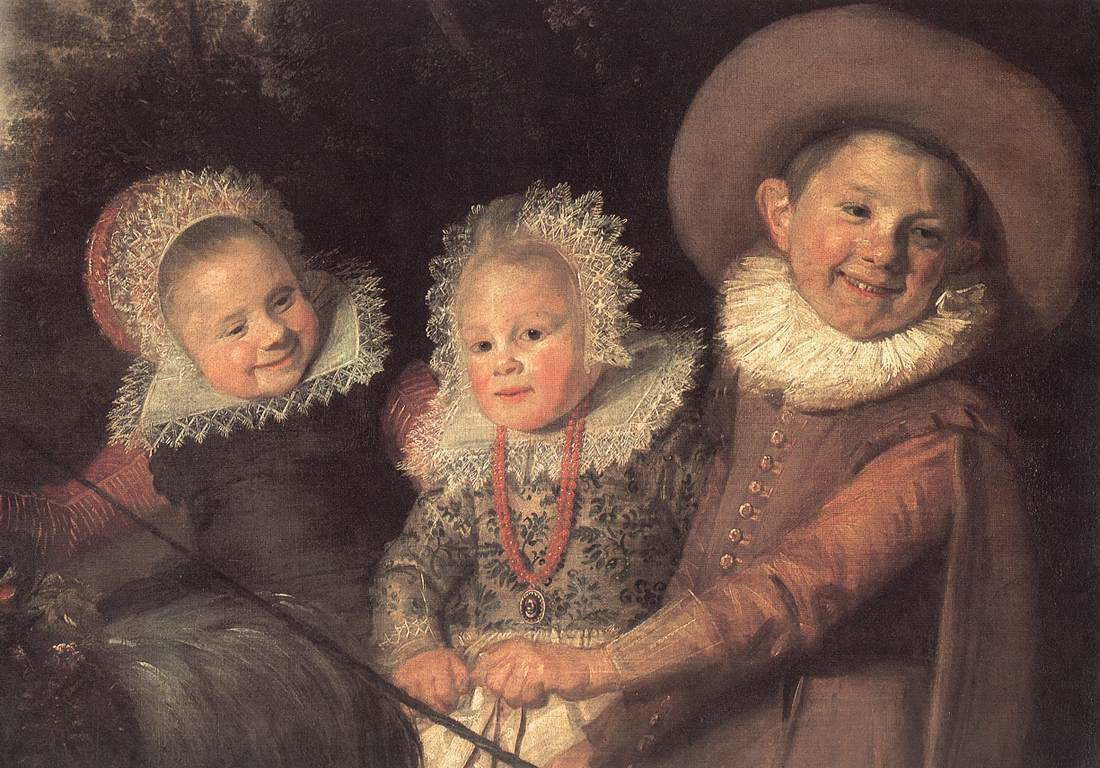 Three Children With A Goat Cart (Detail) 1620 | Frans Hals | Oil Painting