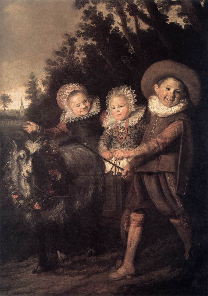 Three Children With A Goat Cart 1620 | Frans Hals | Oil Painting