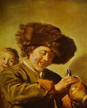 Fisherman Playing A Fiddle 1630 | Frans Hals | Oil Painting
