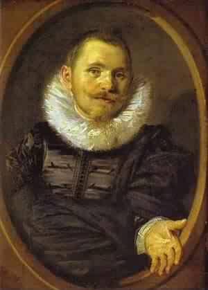 Portrait Of A Man In A Travellers Hat 1660-66   Frans Hals   Oil Painting