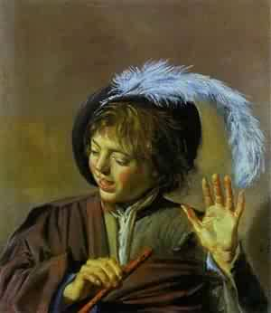 Jester With A Lute | Frans Hals | Oil Painting