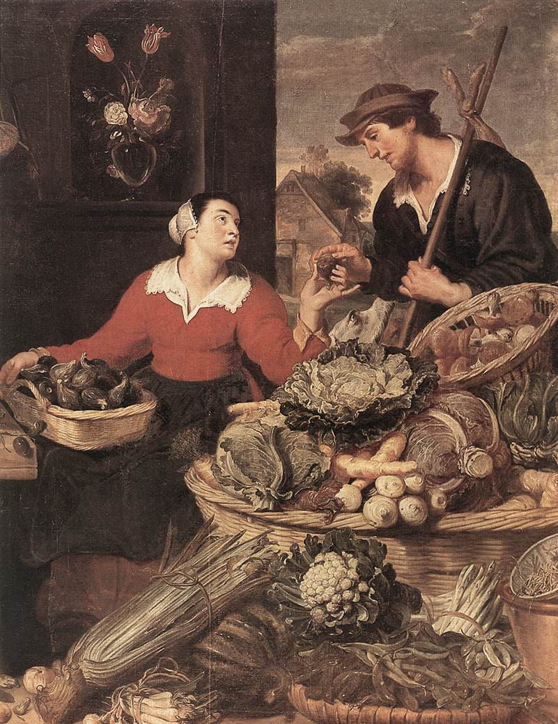 Fruit And Vegetable Stall Detail | Frans Snyders | Oil Painting