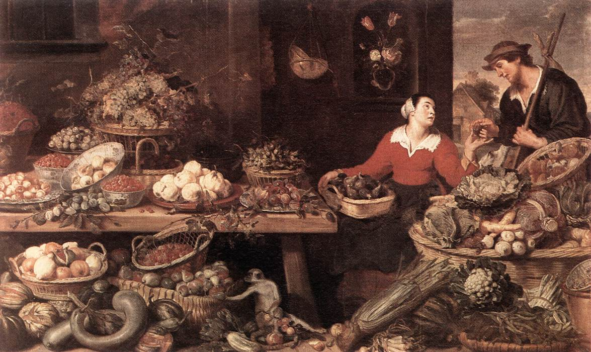 Fruit And Vegetable Stall | Frans Snyders | Oil Painting