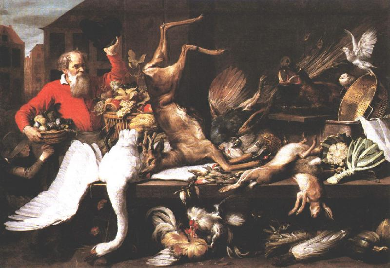 Still Life With Dead Game Fruits And Vegetables In A Market 1614 | Frans Snyders | Oil Painting