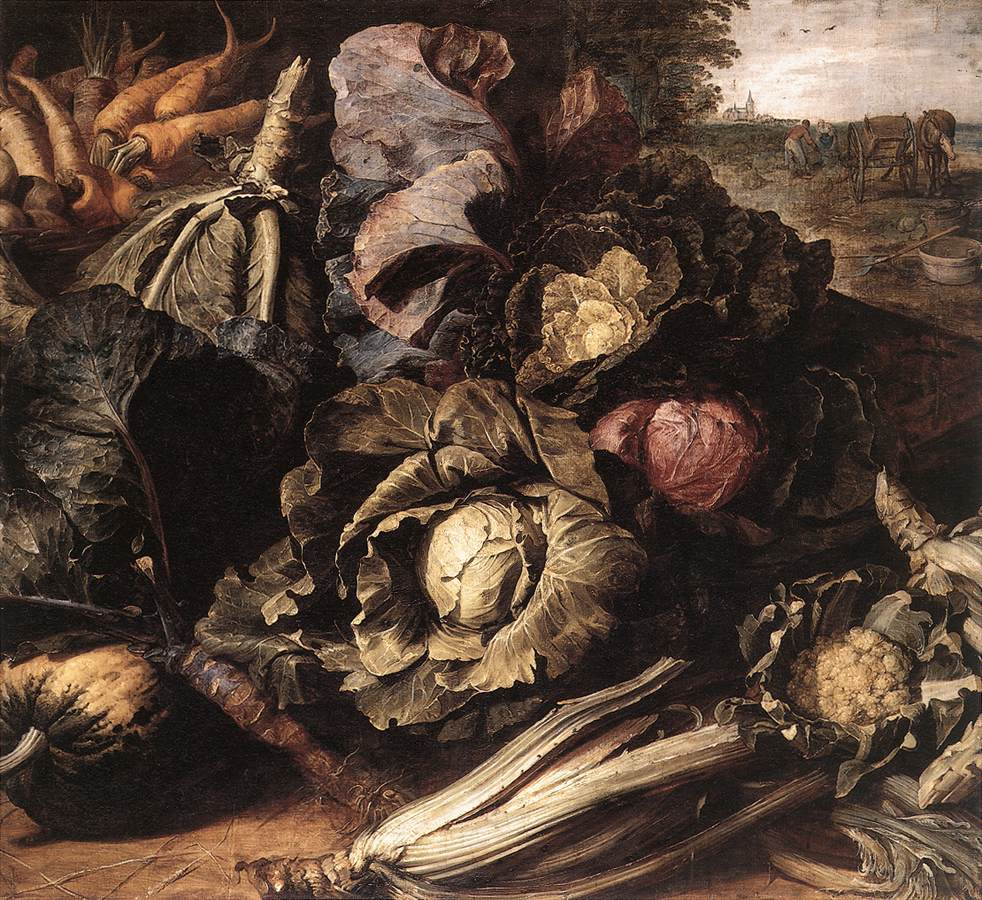 Vegetable Still Life 1600   Frans Snyders   Oil Painting