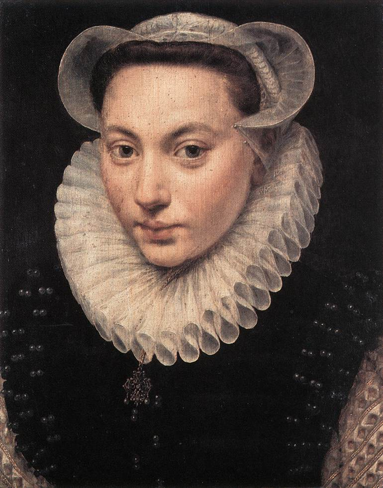 Portrait of a Young Woman 1581 | Frans The Elder Pourbus | Oil Painting