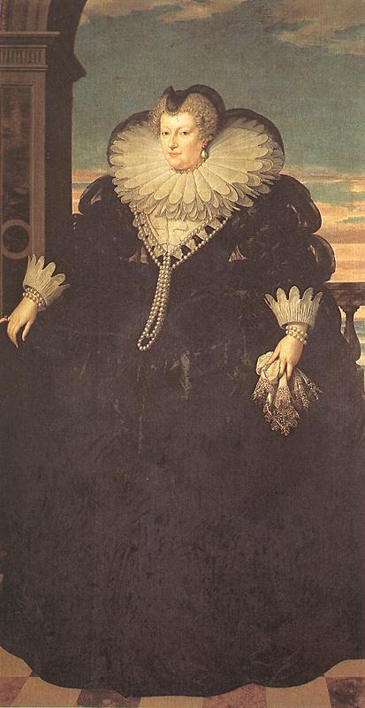 Marie Des M Dici Queen Of France 1617 | Frans The Elder Pourbus | Oil Painting