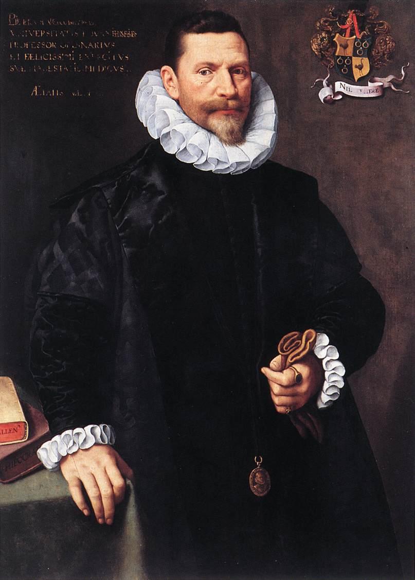 Portrait Of Petrus Ricardus 1592 | Frans The Elder Pourbus | Oil Painting