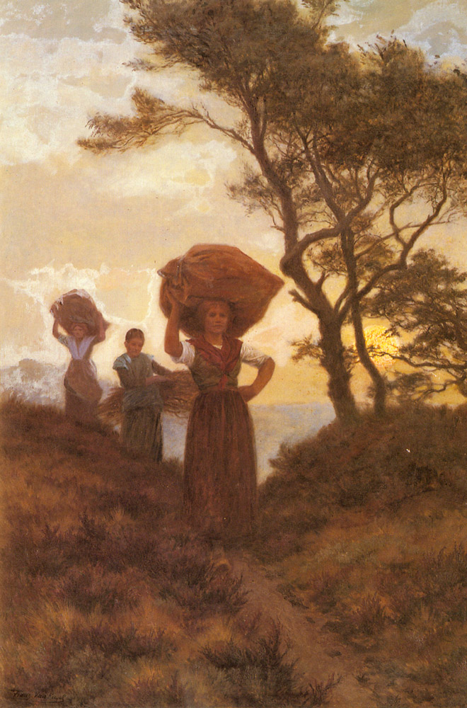 Returning From The Fields | Frans Van Kuyck | Oil Painting