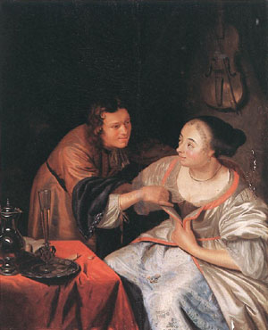 Carousing Couple | Frans Van The Elder Mieris | Oil Painting