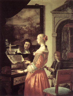 Duet 1658 | Frans Van The Elder Mieris | Oil Painting