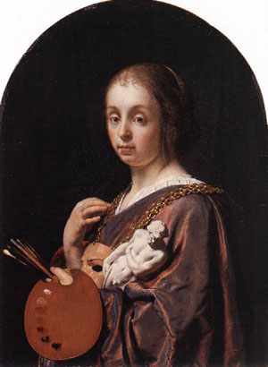 Pictura (An Allegory Of Painting) 1661 | Frans Van The Elder Mieris | Oil Painting