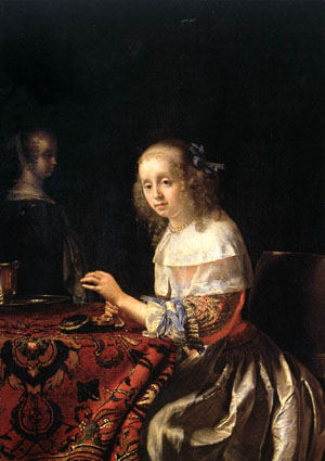 The Lacemaker | Frans Van The Elder Mieris | Oil Painting