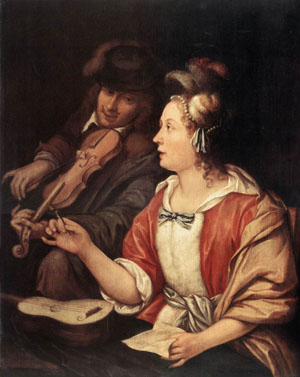 The Music Lesson | Frans Van The Elder Mieris | Oil Painting