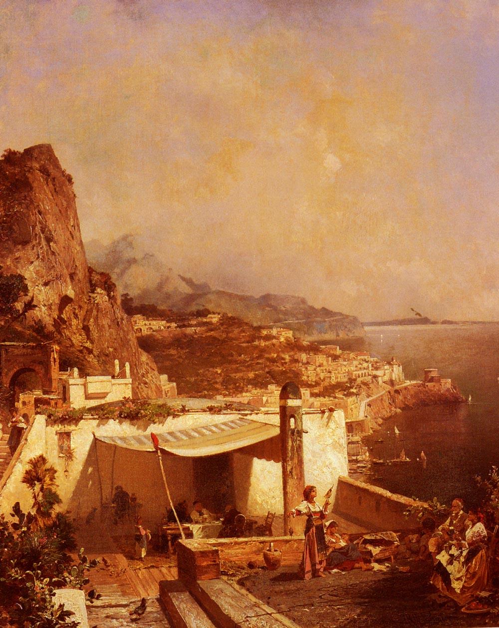 Amalfi-Golfe De Salerne | Franz Richard Unterberger | Oil Painting