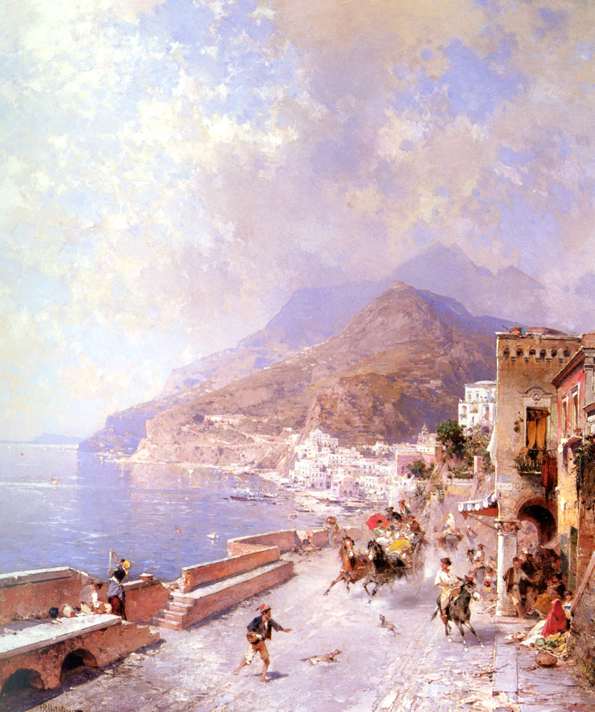 Amalfi | Franz Richard Unterberger | Oil Painting